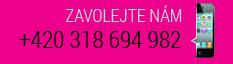 Zavoljte nám +420 318 694 982